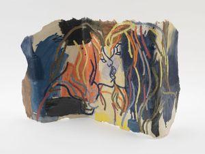 Paravent Avec Amour by Ghada Amer contemporary artwork