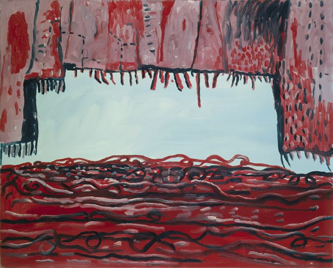 Curtain and Sea by Philip Guston contemporary artwork