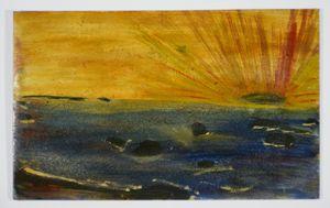 Sunrise over Ocean by Frank Walter contemporary artwork