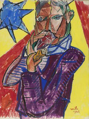 Le soleil bleu by Jean Milo contemporary artwork