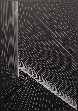 Algoritmique TTR 6J laser by Santiago Torres contemporary artwork