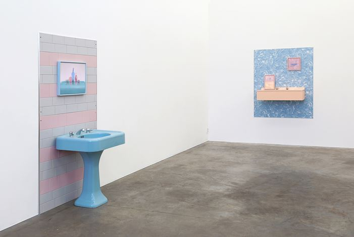 Exhibition view: Emily Hartley-Skudder, Blue Rinse, Jonathan Smart Gallery (27 April–26 May 2018). Courtesy Jonathan Smart Gallery.