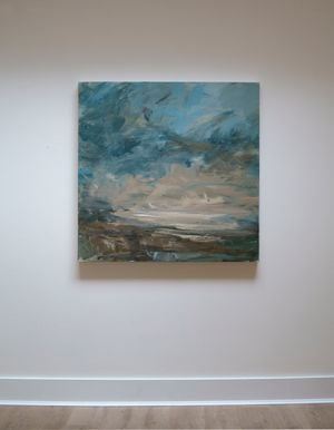 High Clouds (Dorset Coast) by Louise Balaam contemporary artwork painting, works on paper