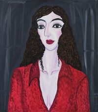 Sophisticated Red at Prime by Julia Long contemporary artwork painting