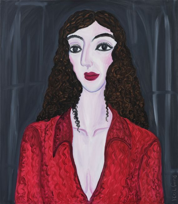 Sophisticated Red at Prime by Julia Long contemporary artwork