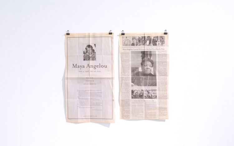 Exhibition view: PHENOMENAL WOMEN   Maya Angelou and Margaret Courtney-Clarke, SMAC Gallery,Cape Town (14 August–25 September 2021). Courtesy SMAC Gallery.