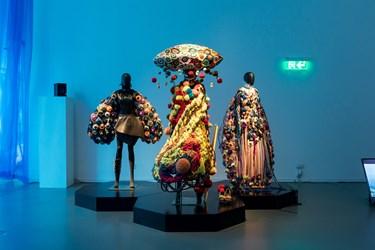 Exhibition view: Tim Yip, Blue—Art, Costumes and Memory, HKDI Gallery, Hong Kong (17 November 2018–31 March 2019). Copyright Tim Yip Studio.