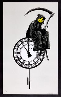 Grin Reaper (signed) by Banksy contemporary artwork print