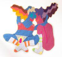 Girl Meets Girl by Caroline Wells Chandler contemporary artwork textile