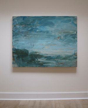 Turquoise Light, Near Zennor by Louise Balaam contemporary artwork painting, works on paper