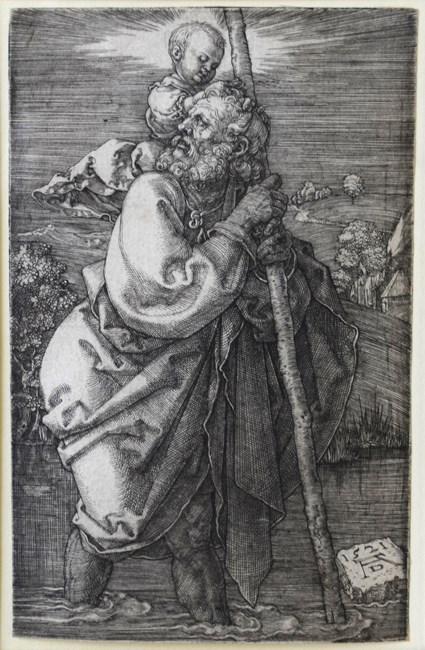 Der heilige Christophorus mit zurückgewandtem Kopf by Albrecht Dürer contemporary artwork