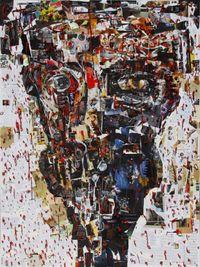 Manusia Mesin/Machine Man by Gatot Pujiarto contemporary artwork textile