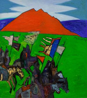 The Red Mountain 《赤山頌》 by Shagdarjav Chimeddorj contemporary artwork