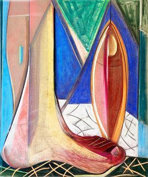Big Composition 4 (Big Foot) by Aurélie Gravas contemporary artwork
