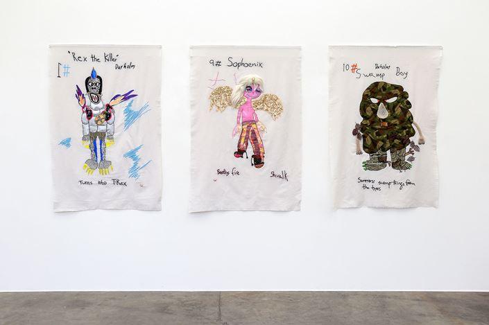Exhibition view: Charrette van Eekelen, Darholm vs Shivlavk, Jonathan Smart Gallery, Christchurch (12 February–6 March 2021). Courtesy Jonathan Smart Gallery.