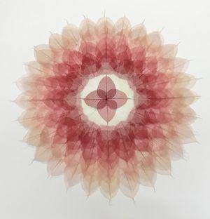 Red White Circle Mandala by Miya Ando contemporary artwork