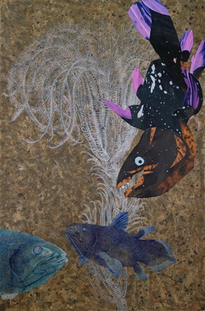 Wanderers of the Abyssal Darkness.Coelacanth L1901 by Yang Mao-Lin contemporary artwork