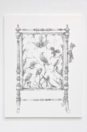 쉐도우박스 안의 새 Birds in Shadow Box #1 by JooLee Kang contemporary artwork