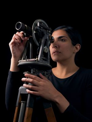 Portrait of a Woman with Theodolite I by Heba Y. Amin contemporary artwork