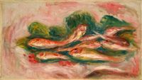 Les poissons by Pierre-Auguste Renoir contemporary artwork painting, works on paper