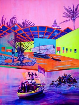 The Archipelago of the Day Before by Zico Albaiquni contemporary artwork