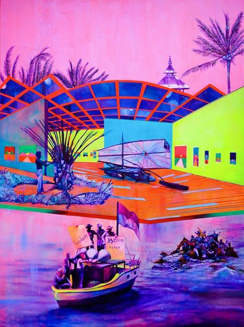 The Archipelago of the Day Before by Zico Albaiquni contemporary artwork