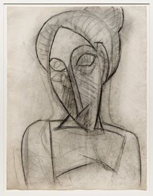 Visage triste (Head and Shoulders of a Woman) by Pablo Picasso contemporary artwork