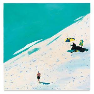 Turquoise by Isca Greenfield-Sanders contemporary artwork