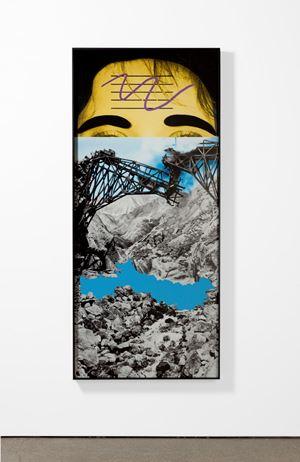 Raised Eyebrows/Furrowed Foreheads: Bridge Collapsing by John Baldessari contemporary artwork painting, works on paper