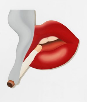 Smoker #3 (Mouth #17) by Tom Wesselmann contemporary artwork