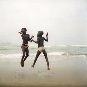 Deux sœurs sur une plage d'Apam, Ghana by Denis Dailleux contemporary artwork