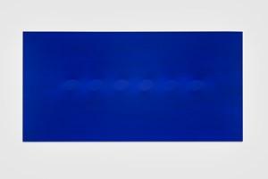 Sei ovali blu by Turi Simeti contemporary artwork