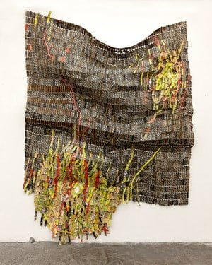 Flame of/in the Forest by El Anatsui contemporary artwork