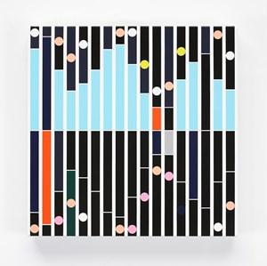 Enemy [Sound Graph] by Sarah Morris contemporary artwork