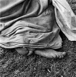Woman resting at the trading store. Hobeni, Bomvanaland, Transkei. by David Goldblatt contemporary artwork