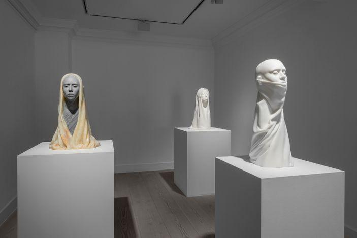 Exhibition view: Aidan Salakhova, The Dust Became The Breath, Gazelli Art House, London (29 April–6 June 2021). Courtesy Gazelli Art House.
