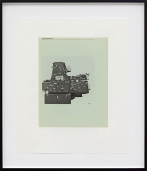 Untitled (Heidelberg Single-Color Offset Press, page 28) by Mathias Poledna contemporary artwork