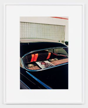 UNTITLED (RECORD ALBUM IN REAR WINDOW) MEMPHIS, TN [FROM DUST BELLS 2] by William Eggleston contemporary artwork