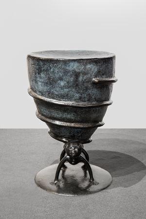 Paire de tabourets « Tampouf » by Jean-Marie Fiori contemporary artwork