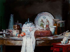 Small paintings, Remains by David Jolly contemporary artwork