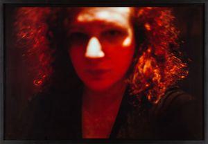Self-Portrait, Red, Zurich by Nan Goldin contemporary artwork