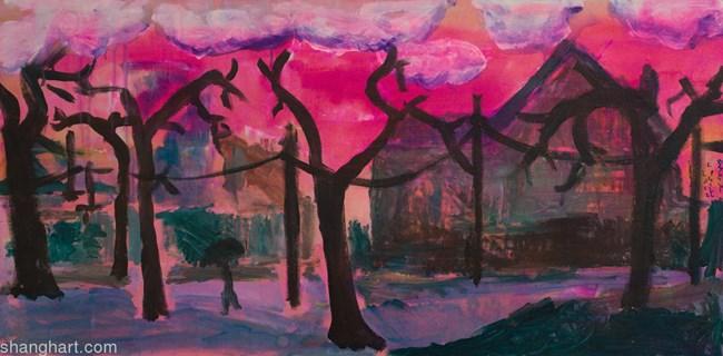 Rain Series, Plum Rains Si Nan Rd. by Chris Gill contemporary artwork