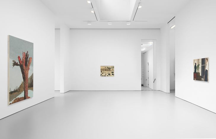 Exhibition view: Mamma Andersson, The Lost Paradise, David Zwirner, 19th Street, New York (4 March–31 July 2020). Courtesy David Zwirner.