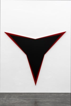 Black Should Bleed to Edge (Red) by Philippe Decrauzat contemporary artwork