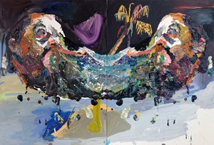 Pacific Self Portrait (Paris) by Ben Quilty contemporary artwork