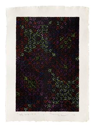 Appearance of Crosses 2017-B10 by Ding Yi contemporary artwork
