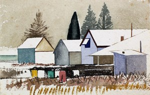 Untitled (Village) by Rita Angus contemporary artwork