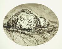 Zwei Kpfe in Landschaft by Marwan contemporary artwork print