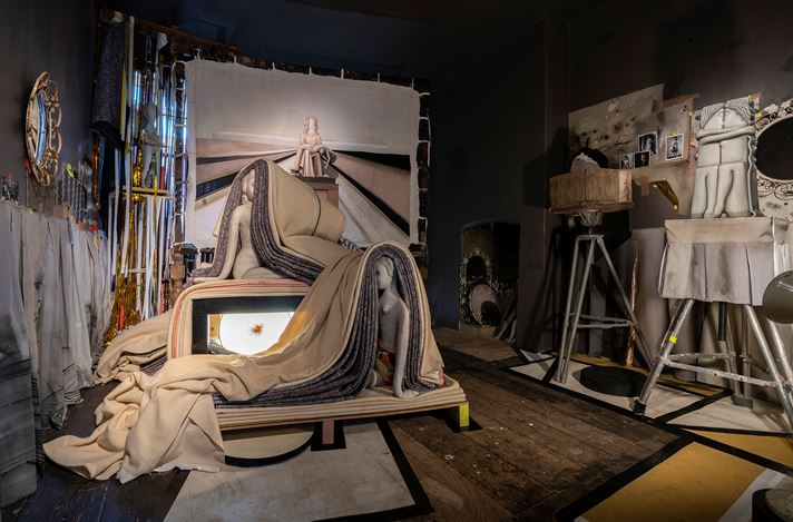 Exhibition view: Cathie Pilkington and Pierre Molinier,The Covering, Karsten Schubert, London (14 February–20 March 2020). Courtesy Karsten Schubert.