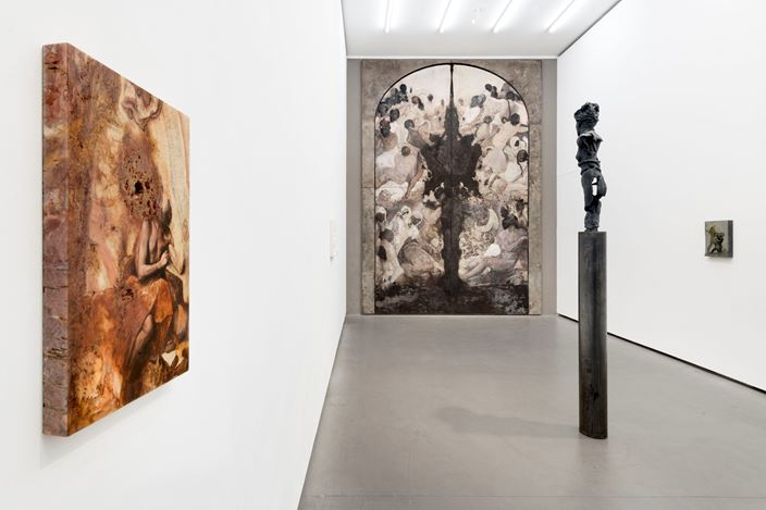 Exhibition view: Nicola Samorì, Malafonte, Galerie EIGEN + ART, Berlin (18 October–17 November 2018). Courtesy Galerie EIGEN + ART, Berlin. Photo: Uwe Walter.